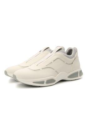 Мужские кожаные кроссовки sprinter Z ZEGNA белого цвета, арт. A4964X-LHG0E | Фото 1 (Подошва: Массивная; Материал внутренний: Текстиль; Стили: Гранж)