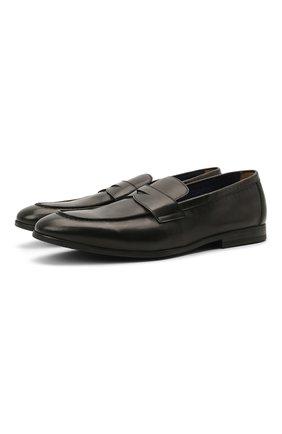Мужские кожаные пенни-лоферы DOUCAL'S черного цвета, арт. DU2825NWT0UY198NN00   Фото 1