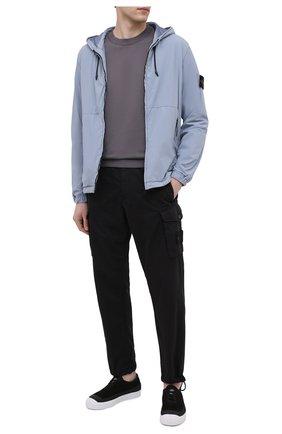 Мужской хлопковый свитшот STONE ISLAND темно-серого цвета, арт. 741563051 | Фото 2