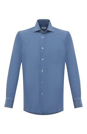 Мужская рубашка KITON синего цвета, арт. UMCNERCH076300 | Фото 1