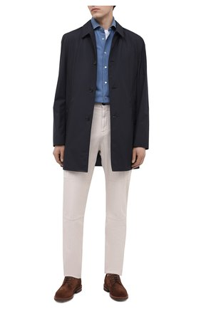Мужская рубашка KITON синего цвета, арт. UMCNERCH076300 | Фото 2