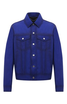 Мужская замшевая куртка BERLUTI синего цвета, арт. R19LBL97-001   Фото 1