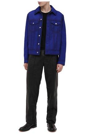 Мужская замшевая куртка BERLUTI синего цвета, арт. R19LBL97-001   Фото 2