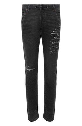 Мужские джинсы DIESEL темно-серого цвета, арт. A00879/069SX | Фото 1