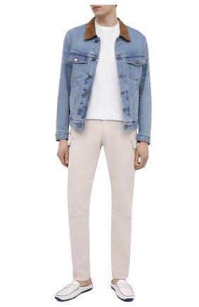 Мужские кожаные сабо ALDO BRUE белого цвета, арт. AB0111.VP.P.P   Фото 2