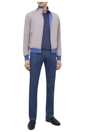 Мужские кожаные лоферы ALDO BRUE темно-синего цвета, арт. AB7108.NL.P.16CF | Фото 2
