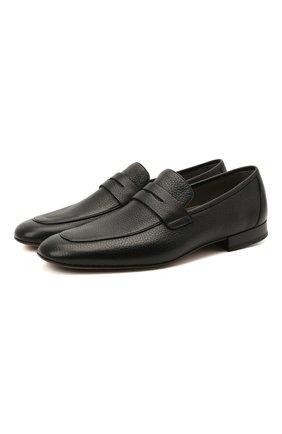 Мужские кожаные пенни-лоферы ALDO BRUE черного цвета, арт. AB9100.CM.P.D86CF   Фото 1