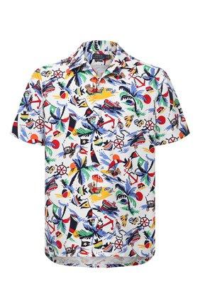 Мужская хлопковая рубашка POLO RALPH LAUREN разноцветного цвета, арт. 710834501/5307 | Фото 1