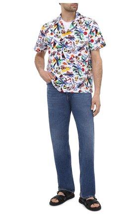 Мужская хлопковая рубашка POLO RALPH LAUREN разноцветного цвета, арт. 710834501/5307 | Фото 2