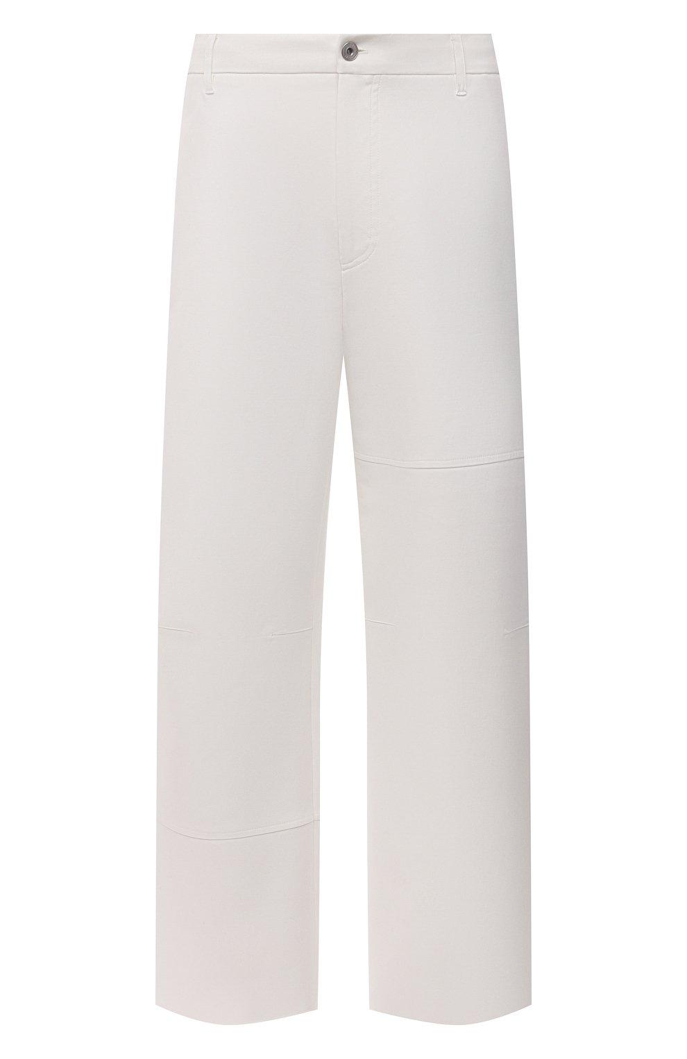 Мужские хлопковые брюки VALENTINO белого цвета, арт. VV3RBG3575Y | Фото 1