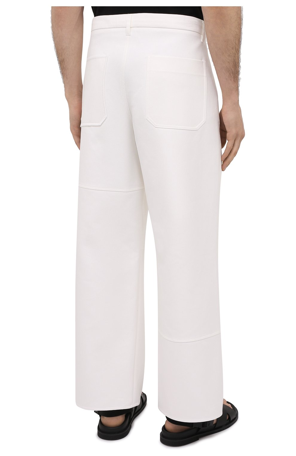 Мужские хлопковые брюки VALENTINO белого цвета, арт. VV3RBG3575Y | Фото 4
