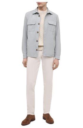 Мужская замшевая куртка LORO PIANA серого цвета, арт. FAL6174 | Фото 2 (Длина (верхняя одежда): Короткие; Материал подклада: Хлопок; Рукава: Длинные; Кросс-КТ: Куртка; Мужское Кросс-КТ: Кожа и замша; Стили: Кэжуэл; Материал внешний: Замша)