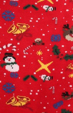 Мужские хлопковые носки BALENCIAGA красного цвета, арт. 641570/4A4B4 | Фото 2 (Материал внешний: Хлопок; Кросс-КТ: бельё)