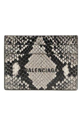 Мужской кожаный футляр для кредитных карт BALENCIAGA разноцветного цвета, арт. 594309/13B63 | Фото 1