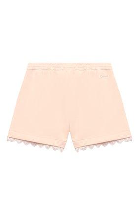 Детские хлопковые шорты CHLOÉ светло-розового цвета, арт. C14659 | Фото 2