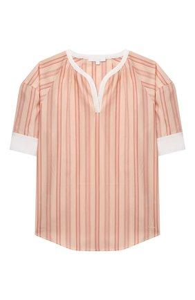 Детское хлопковая блузка CHLOÉ коричневого цвета, арт. C15B71 | Фото 1
