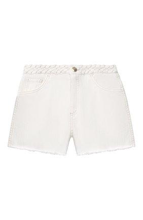 Детские джинсовые шорты CHLOÉ белого цвета, арт. C14662 | Фото 1