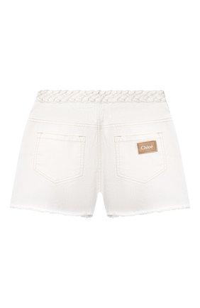 Детские джинсовые шорты CHLOÉ белого цвета, арт. C14662 | Фото 2