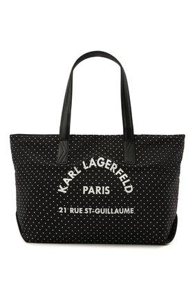Детская сумка KARL LAGERFELD KIDS черного цвета, арт. Z10099 | Фото 1