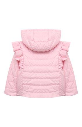 Детского куртка с капюшоном MONNALISA розового цвета, арт. 377100   Фото 2