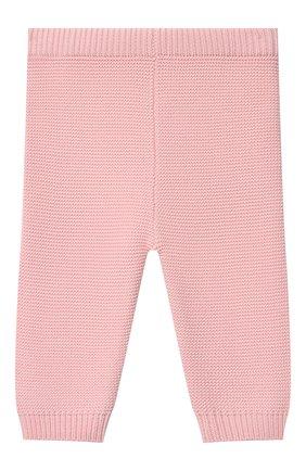 Детские хлопковые брюки MOSCHINO розового цвета, арт. MUP03M/LHE13 | Фото 2 (Материал внешний: Хлопок; Ростовка одежда: 3 мес | 62 см, 6 мес | 68 см, 9 мес | 74 см)