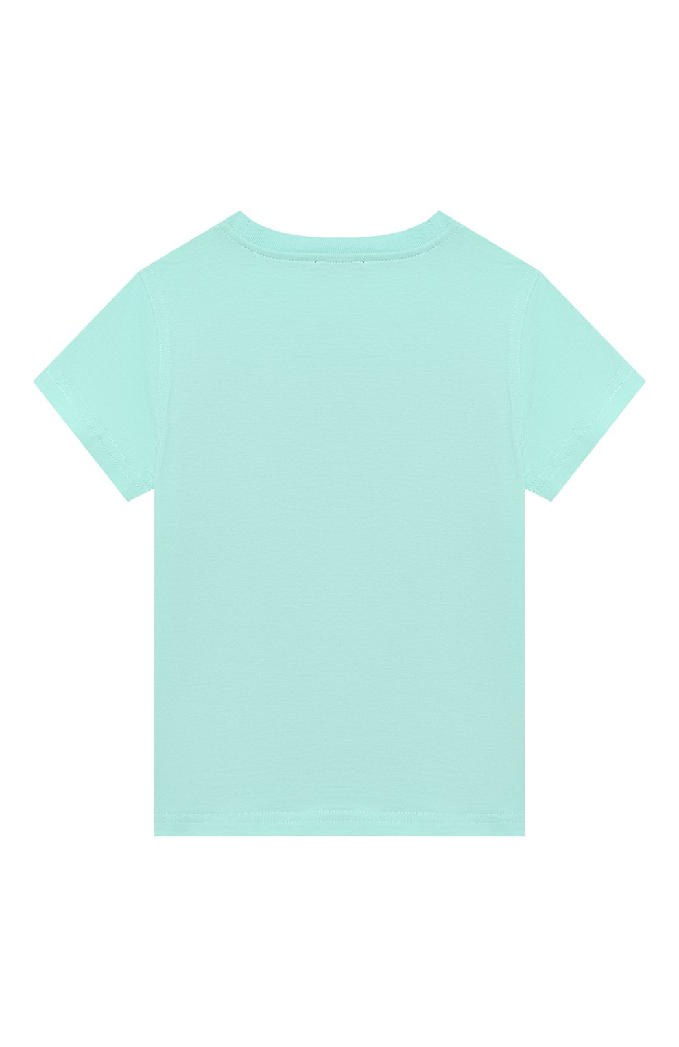 Детская хлопковая футболка IL GUFO бирюзового цвета, арт. P21TS271M0014/2A-4A | Фото 2