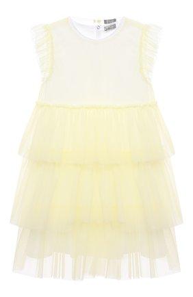 Женский хлопковое платье IL GUFO желтого цвета, арт. P21VM585H0018/5A-8A | Фото 1