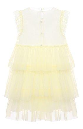 Женский хлопковое платье IL GUFO желтого цвета, арт. P21VM585H0018/5A-8A | Фото 2