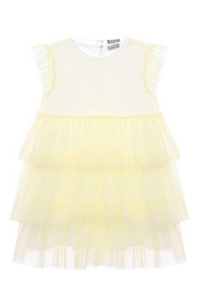 Женский хлопковое платье IL GUFO желтого цвета, арт. P21VM585H0018/2A-4A | Фото 1