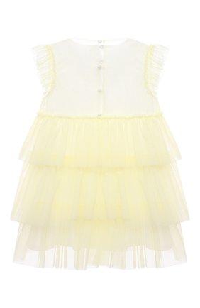 Женский хлопковое платье IL GUFO желтого цвета, арт. P21VM585H0018/2A-4A | Фото 2