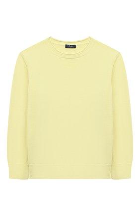 Детский хлопковый пуловер IL GUFO желтого цвета, арт. P21MA270EM200/5A-8A | Фото 1