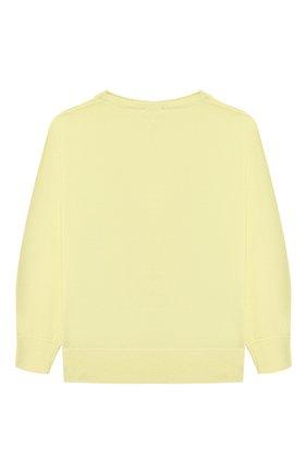 Детский хлопковый пуловер IL GUFO желтого цвета, арт. P21MA270EM200/5A-8A | Фото 2