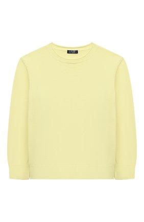 Детский хлопковый пуловер IL GUFO желтого цвета, арт. P21MA270EM200/2A-4A | Фото 1