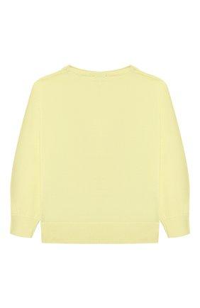 Детский хлопковый пуловер IL GUFO желтого цвета, арт. P21MA270EM200/2A-4A | Фото 2