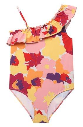 Детского слитный купальник IL GUFO разноцветного цвета, арт. P21CR050N4018/5A-8A | Фото 1