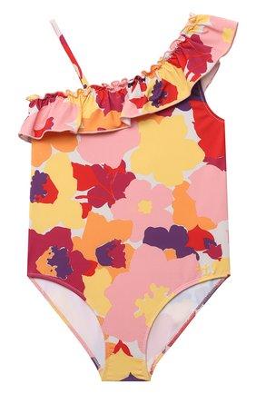 Детского слитный купальник IL GUFO разноцветного цвета, арт. P21CR050N4018/2A-4A | Фото 1