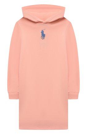 Детское хлопковое платье POLO RALPH LAUREN розового цвета, арт. 313837221 | Фото 1