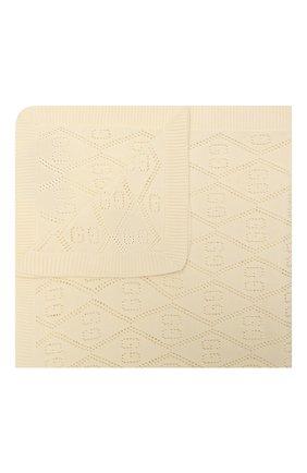 Детского хлопковое одеяло GUCCI бежевого цвета, арт. 643511/3K111 | Фото 1