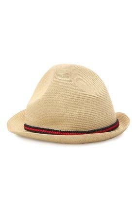 Детская шляпа GUCCI бежевого цвета, арт. 642867/4HADL | Фото 2