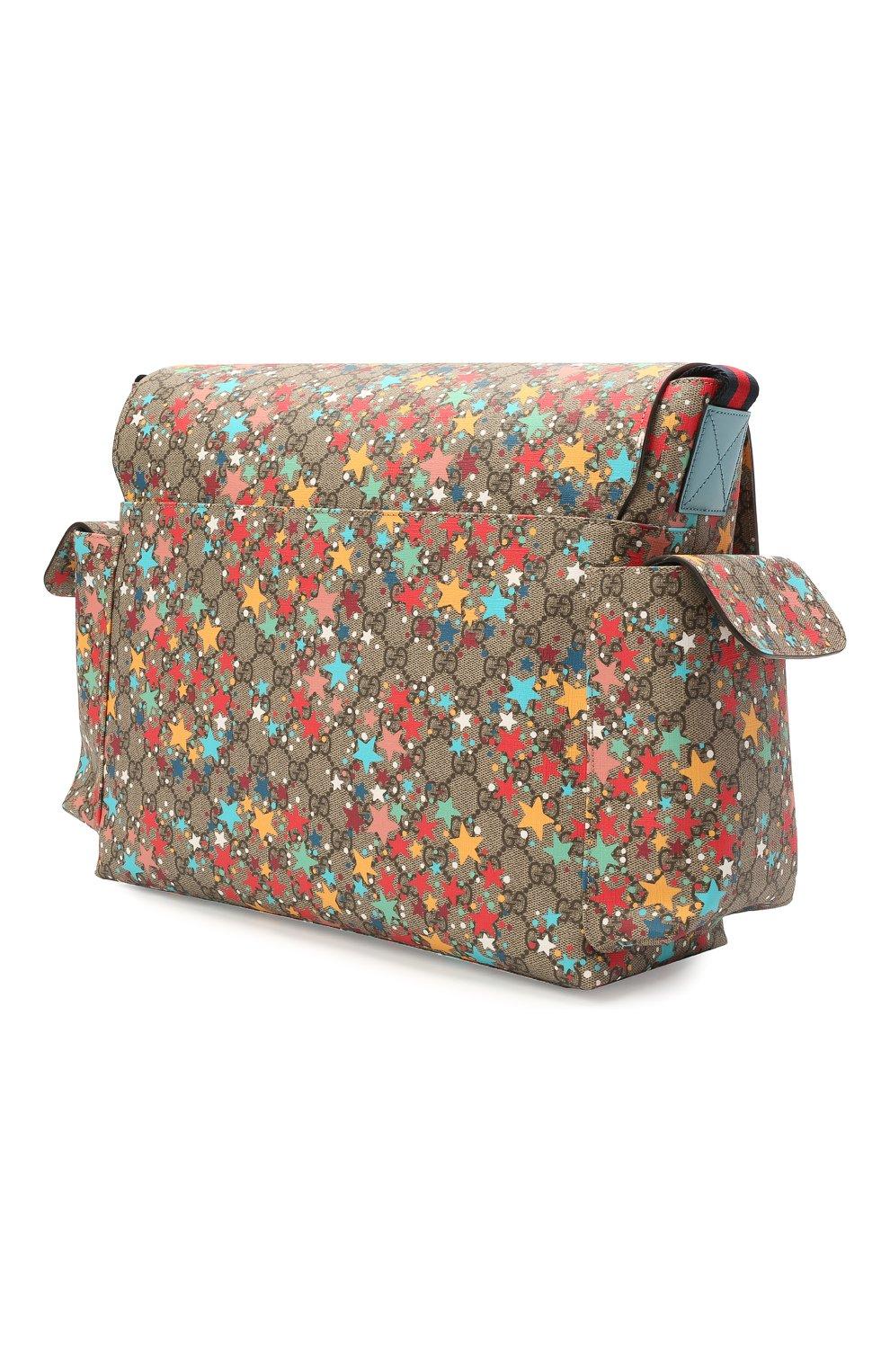 Детская сумка GUCCI разноцветного цвета, арт. 211131/2R6CG | Фото 2 (Материал: Текстиль, Экокожа)