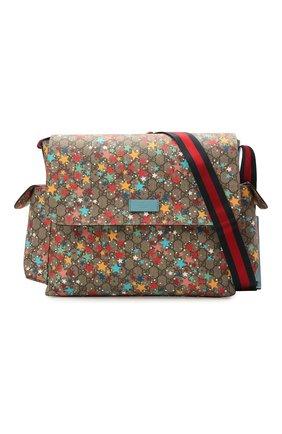 Детская сумка GUCCI разноцветного цвета, арт. 211131/2R6CG | Фото 4 (Материал: Текстиль, Экокожа)