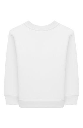 Детский хлопковый свитшот BALENCIAGA белого цвета, арт. 558145/TJVM3   Фото 2