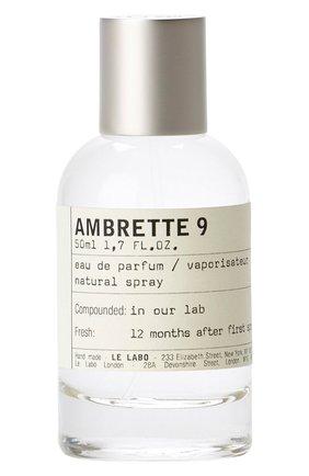 Парфюмерная вода ambrette 9 LE LABO бесцветного цвета, арт. 811901022646   Фото 1