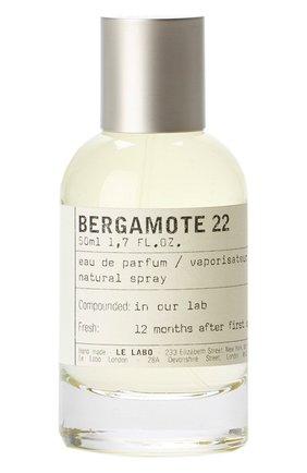 Парфюмерная вода bergamote 22 LE LABO бесцветного цвета, арт. 811901022660   Фото 1