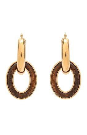 Женские серьги JIL SANDER коричневого цвета, арт. JSPS836111/WSS80051   Фото 1