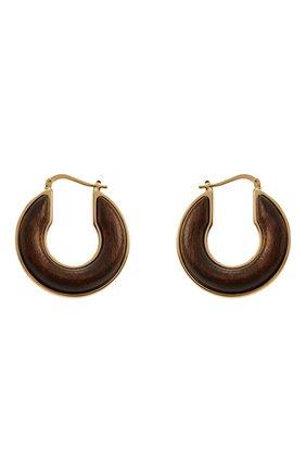 Женские серьги JIL SANDER коричневого цвета, арт. JSPS837110/WSS80051 | Фото 1