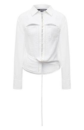 Женская блузка из вискозы JACQUEMUS белого цвета, арт. 211SH10/102100 | Фото 1