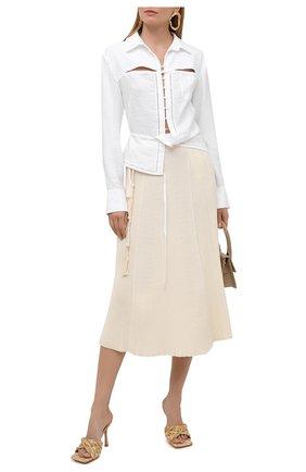 Женская блузка из вискозы JACQUEMUS белого цвета, арт. 211SH10/102100 | Фото 2