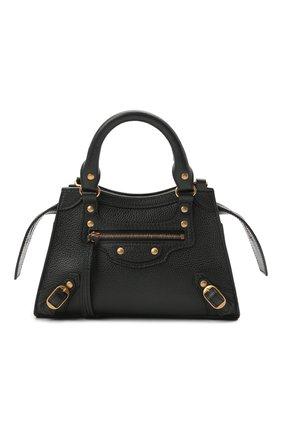 Женская сумка neo classic mini BALENCIAGA черного цвета, арт. 638524/15Y41 | Фото 1 (Ремень/цепочка: На ремешке; Материал: Натуральная кожа; Сумки-технические: Сумки top-handle, Сумки через плечо; Размер: mini)