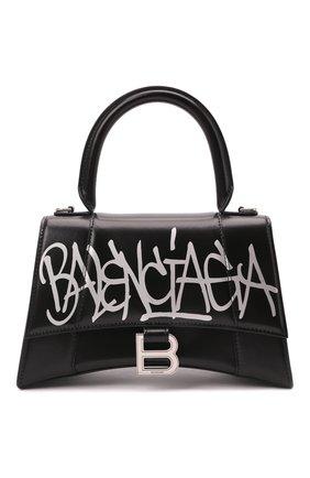 Женская сумка hourglass s BALENCIAGA черного цвета, арт. 593546/1JHNY | Фото 1